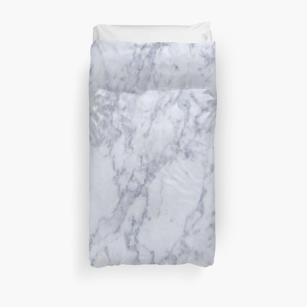 Quot White And Gray Marble Stone Pattern Quot Duvet Cover By