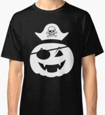 pumkin pirate with pirate skelette head  Classic T-Shirt