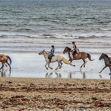 Sea Horses (canter across the sands at Marazion) by Lissywitch
