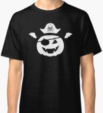 Kürbis Pirat mit Piratenhut und Feldermausflügeln Classic T-Shirt