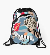 Blue universe II Drawstring Bag