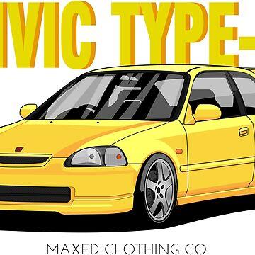 Civic Type-R 1997 (yellow) by monstta