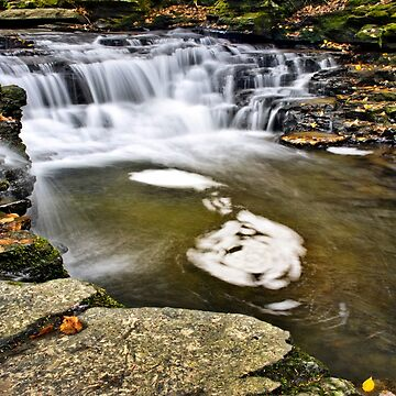 Peaceful Waterfall by rollosphotos