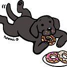 Black Labrador and Donuts by HappyLabradors