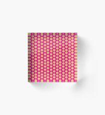 dots, dots and more dots pink Acrylic Block