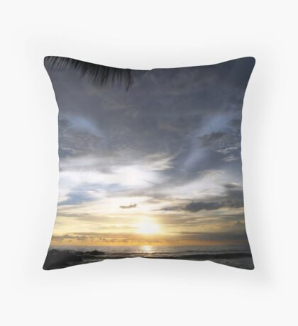 as her wings slowly melt away Throw Pillow