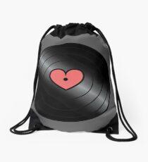 My Favorite Record Drawstring Bag