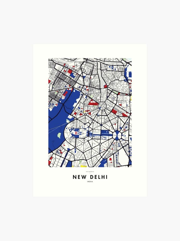 Delhi India Map on