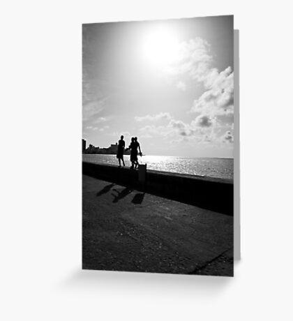 Shadows of Habana Greeting Card