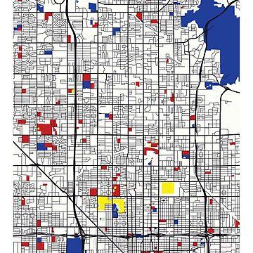 Phoenix (Estados Unidos) Mapa x Piet Mondrian de franciscouto