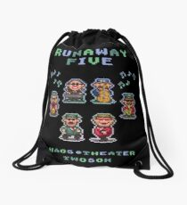 Runaway Five Drawstring Bag