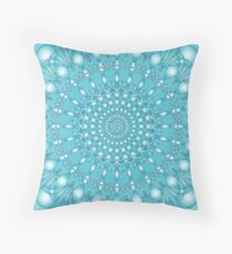 Turquoise Geometric Mandala 1 Floor Pillow