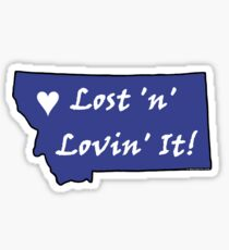 Montana Lost n Lovin It Sticker - Blue Sticker