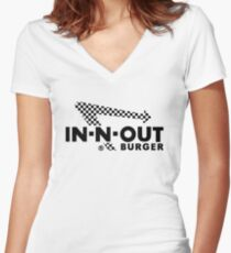 In-N-Out Burger Women's Fitted V-Neck T-Shirt