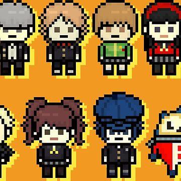 P4 Cast Pixel Art by TatsuyoDragneel