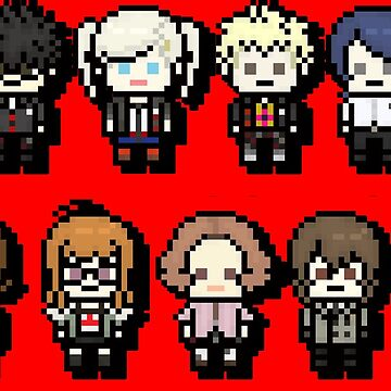 Back Print: P5 Cast Pixel by TatsuyoDragneel