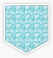 lightblue wave pocket Sticker