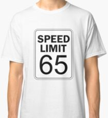 Speed Limit 65 New Jersey GSP Toll Road Traffic Sign Shirt Classic T-Shirt