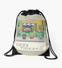Fuzzy Pickles Drawstring Bag