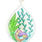 Mermaid Terrarium by alliemackie