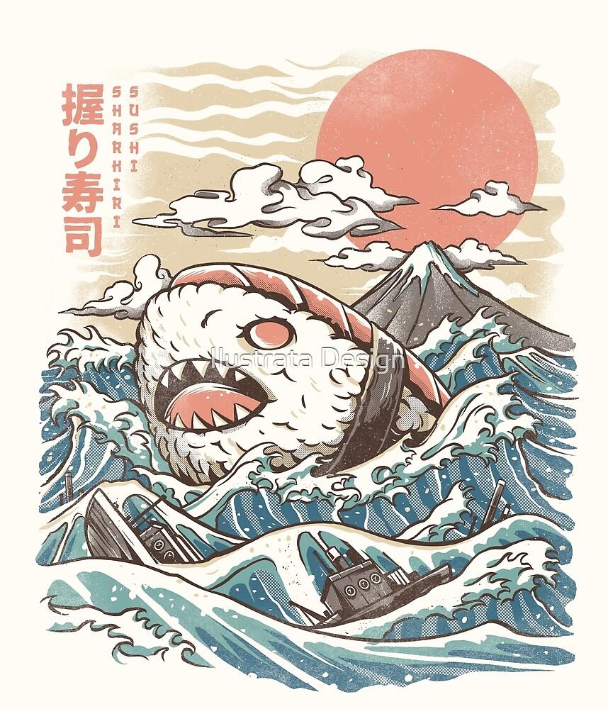 Sharkiri Sushi by Ilustrata Design