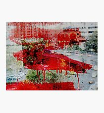 Red Paint Photographic Print