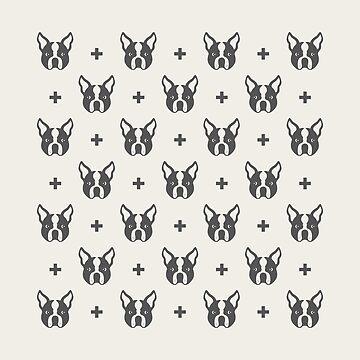 Boston Terrier Pattern by dinafiala