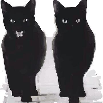 Black cats by elenara