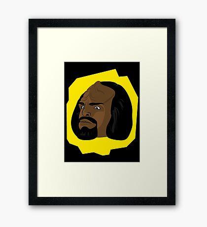 I am not a merry man. Framed Print