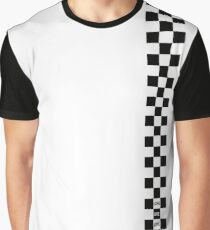 Cartoon Heart Checkered Board - T-Shirt Light Graphic T-Shirt