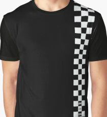 Cartoon Heart Checkered Board - T-Shirt Dark Graphic T-Shirt
