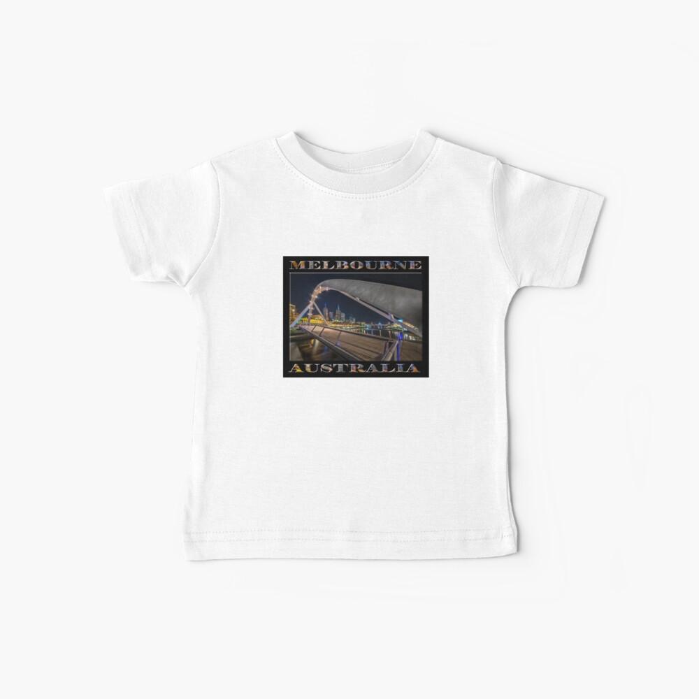 Southgate Bridge At Night (poster edition on black) Baby T-Shirt