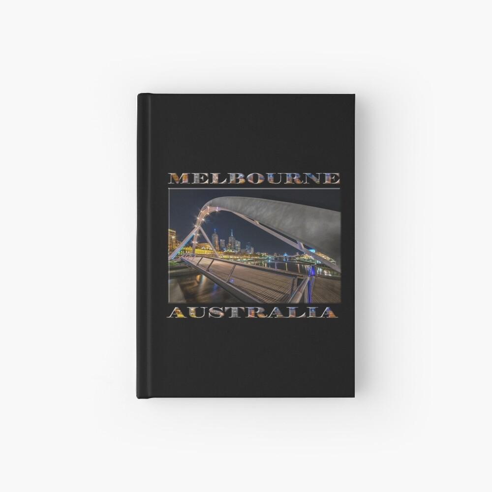 Southgate Bridge At Night (poster edition on black) Hardcover Journal