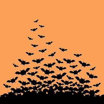Spooky Cute Halloween Bats by sugarhai