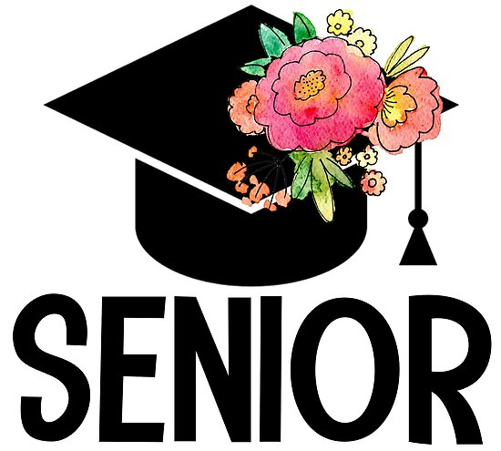 """Class Of 2019 Senior Floral Graduation Cap "" Posters By"
