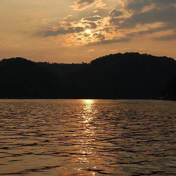 Golden Sunset On Center Hill Lake by jherbert101