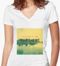 Sunshine Riptide - Fall Out Boy  Women's Fitted V-Neck T-Shirt