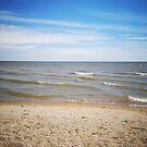 a little beach by Cheryl Dunning