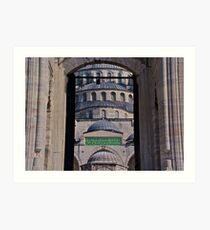 Famous Mosque in Istanbul Art Print