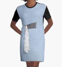 Simple Blue Lab Coat Graphic T-Shirt Dress