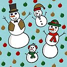 Snowman Family Pattern by Pamela Maxwell