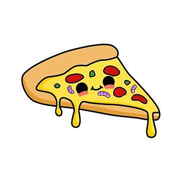 Cute Pizza Slice by StickersAndStuff