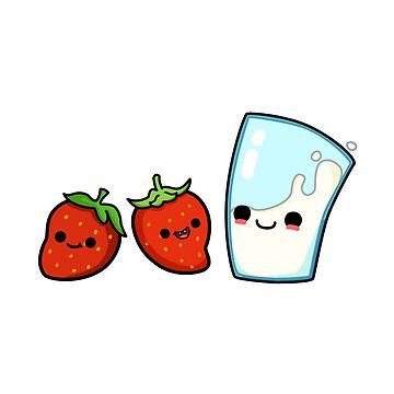 Strawberry Milk by StickersAndStuff