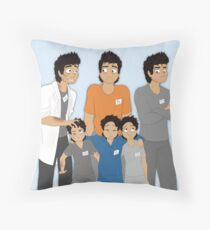 The Hopeless, Rose-Colored, and Original Subjects and Scientists Throw Pillow