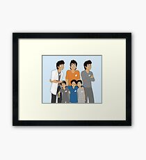 The Hopeless, Rose-Colored, and Original Subjects and Scientists Framed Print