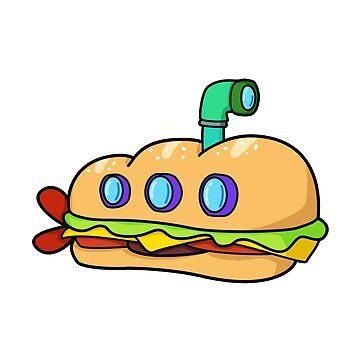 Sub Sandwich by StickersAndStuff