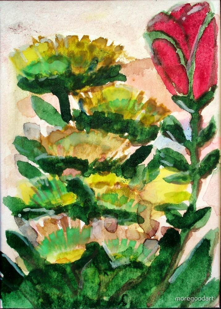 Red Tulip by moregoodart