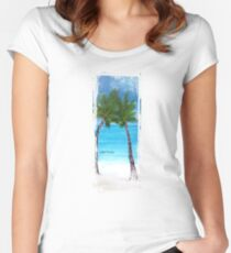 Palm trees Women's Fitted Scoop T-Shirt