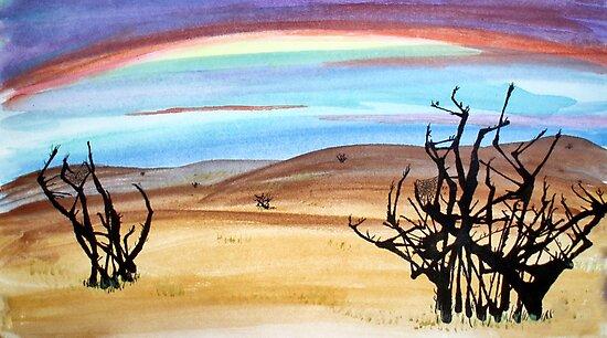 abstract desert  by moregoodart