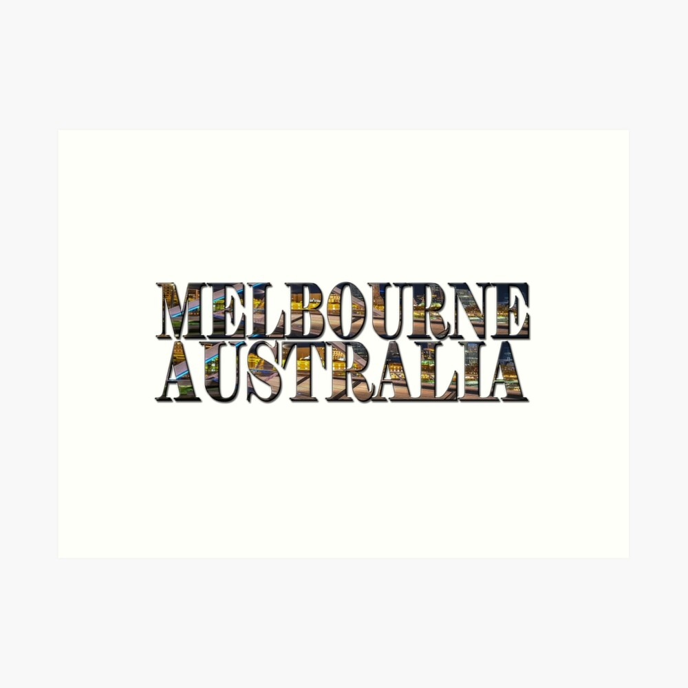 Melbourne Australia (on white) Art Print